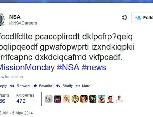 The NSA's mysterious coded tweet